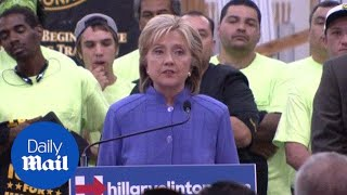Hillary speaks out against TPP at union rally in Las Vegas 2015 - Daily Mail