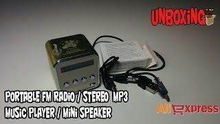 Mini Speaker Music Player Portable FM Radio Stereo MP3 Music Player TD-V26 / ALIEXPRESS.COM