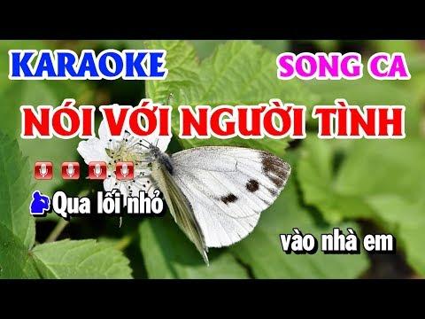 Karaoke Nói Với Người Tình   Nhạc Sống Song Ca Beat Chuẩn   Thanh Hải