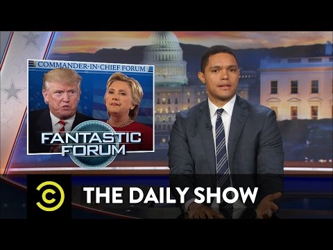 Matt Lauer Botches the Commander-In-Chief Forum: The Daily Show