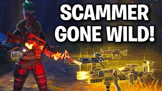 Scammer Goes Extremely PSYCHO ... 😂😳 (Scammer Get Scammed) Fortnite Save The World