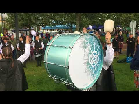 Inverary and District Drums MSR Finals warmup at the World Pipe Band Championships 2017