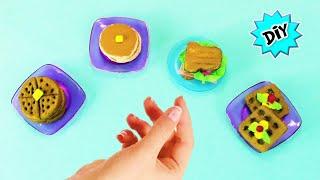 🥪 Como Hacer Comida MINIATURA para muñecas Barbie RECICLANDO! HotCakes, Wafles, Pan y Sandwiches
