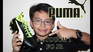Puma evoTOUCH 1 FG JR Firm Ground Soccer Cleats - UNBOXING