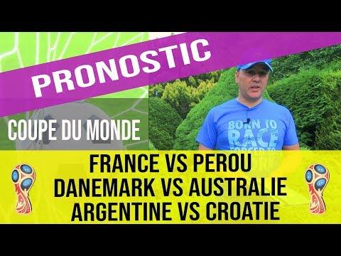 Pronostic France Vs Perou, Danemark Vs Australie,  Argentine Vs Croatie,  CDM 2018, Groupe C