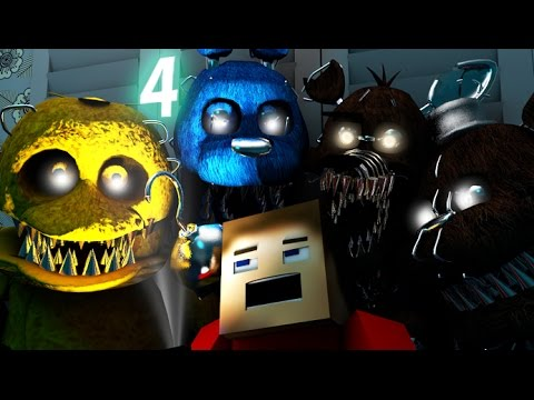 Five Nights At Freddy's 4 IN MINECRAFT [3D Minecraft Animation] FNAF 4