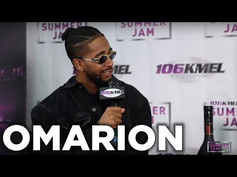 Omarion talks with Shay Diddy backstage at SUMMER JAM 2017