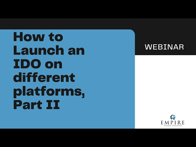 How to launch IDOs on Multiple Platforms, Part II