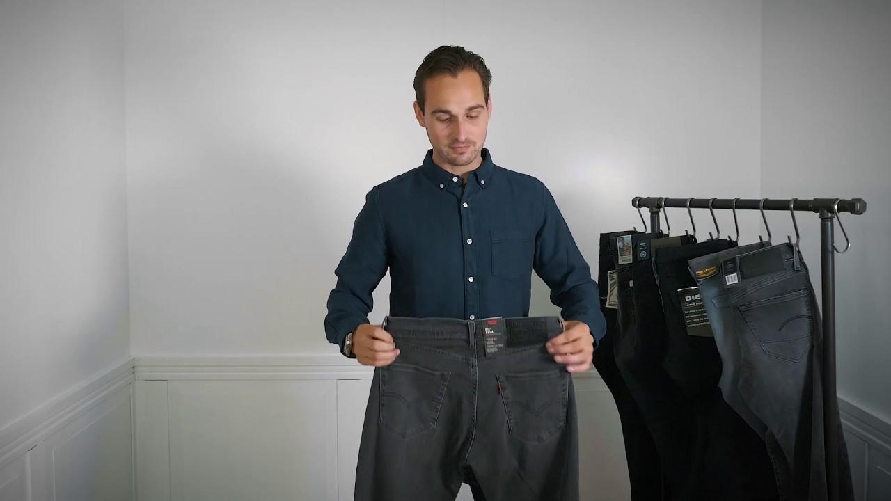 Welp De Rode Winkel Jeanstips: ZWARTE EN GRIJZE BROEKEN voor heren IH-66