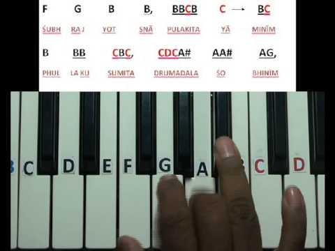 Vande mataram National song keyboard lesson part 2