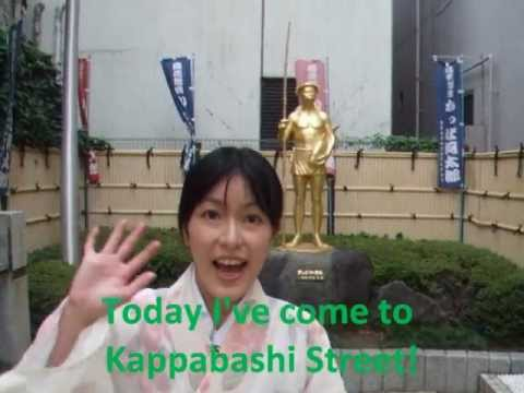 Japan Travel Guide:Kappabashi Street in Asakusa is a unique shopping street ( English ver. )