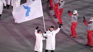 Las dos Coreas desfilan bajo una misma bandera en la inauguración de los JJOO