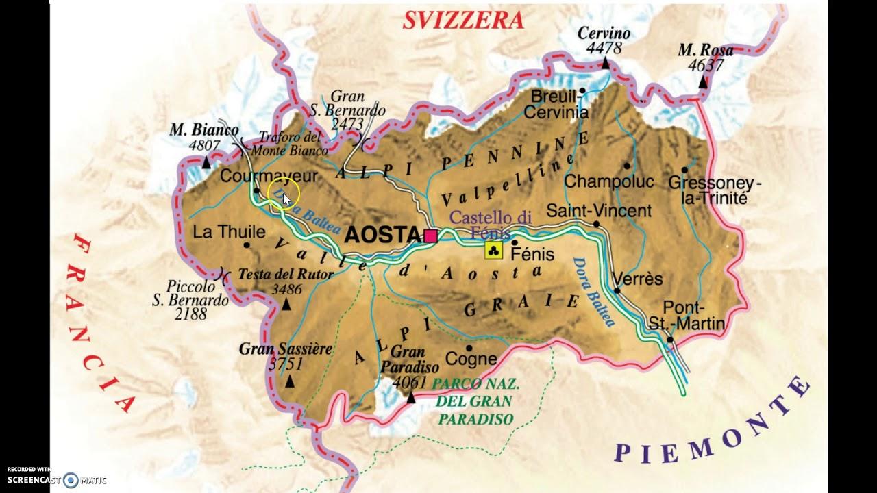 Cartina Della Valle D Aosta Da Stampare.La Valle D Aosta