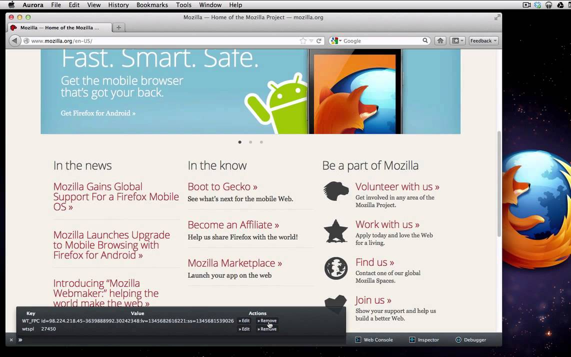 Command Line in the Firefox 16 Developer Toolbar