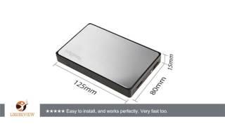 HandAcc 2.5 Inch USB 3.0 Hard Drive External Enclosure Case For 9.5mm & 7mm 2.5