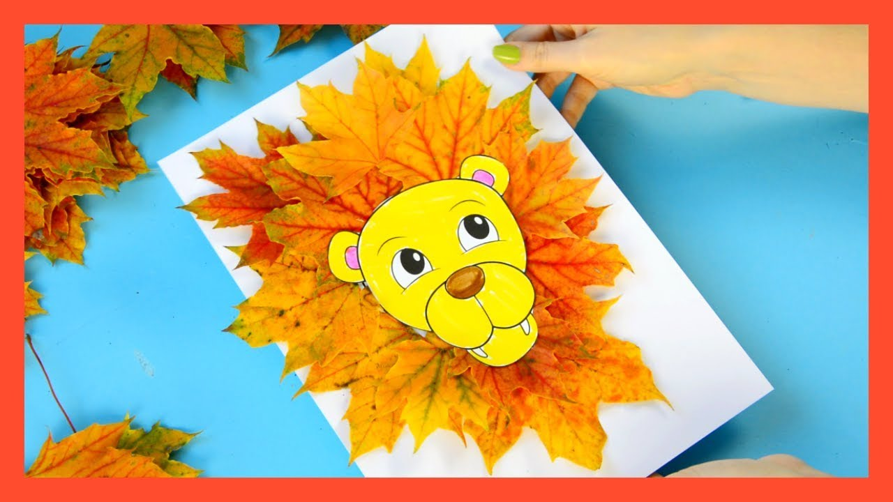 Leaf Lion Craft - Fall craft for kids