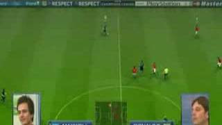 PES 2009 - Gameplay ( Inter Milan - Manchester United )