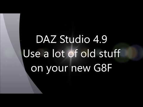 Daz Studio - How to use old stuff with new G8