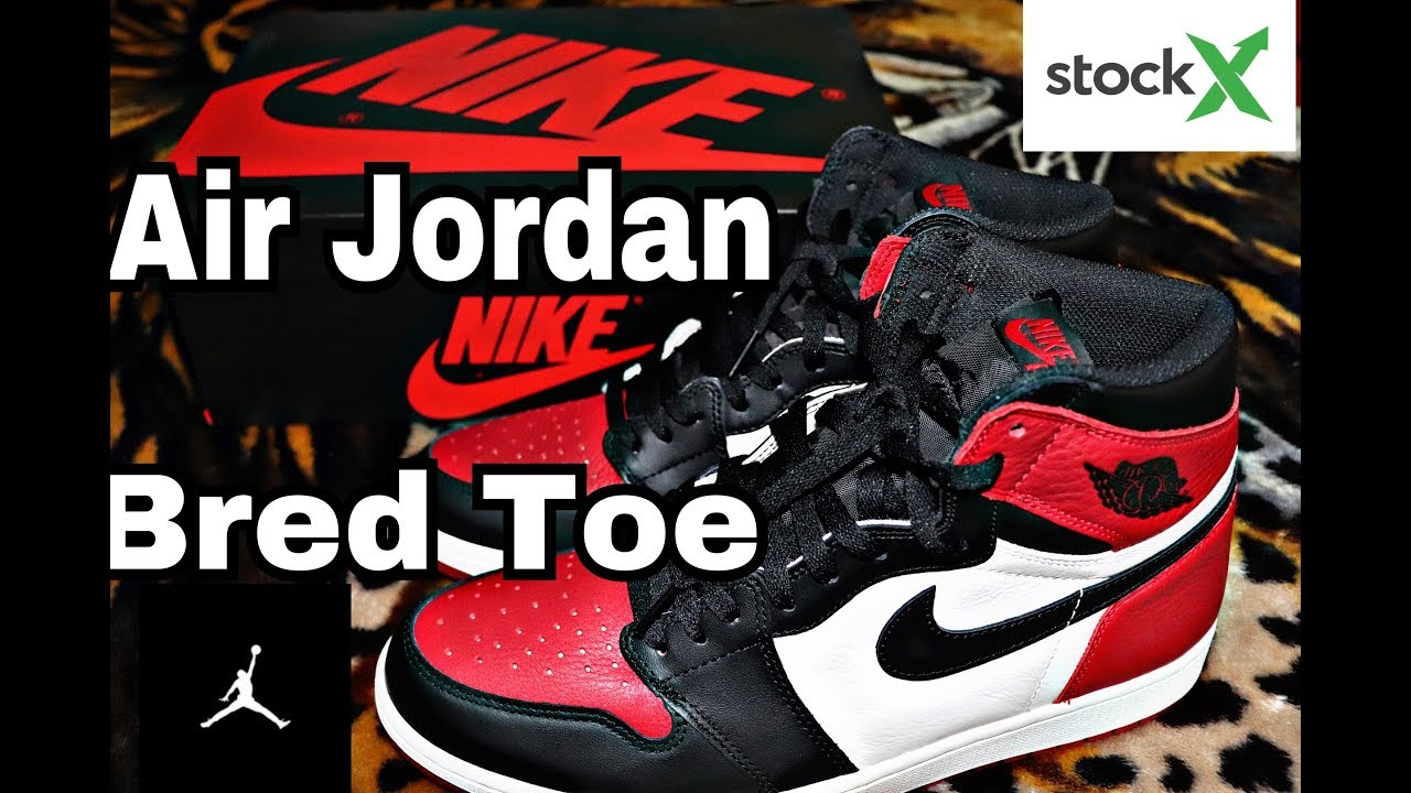 innovative design 43dc7 d19e5 AIR JORDAN 1 RETRO HIGH OG BRED TOE Unboxing, Review from stockX (FAKE OR  REAL)