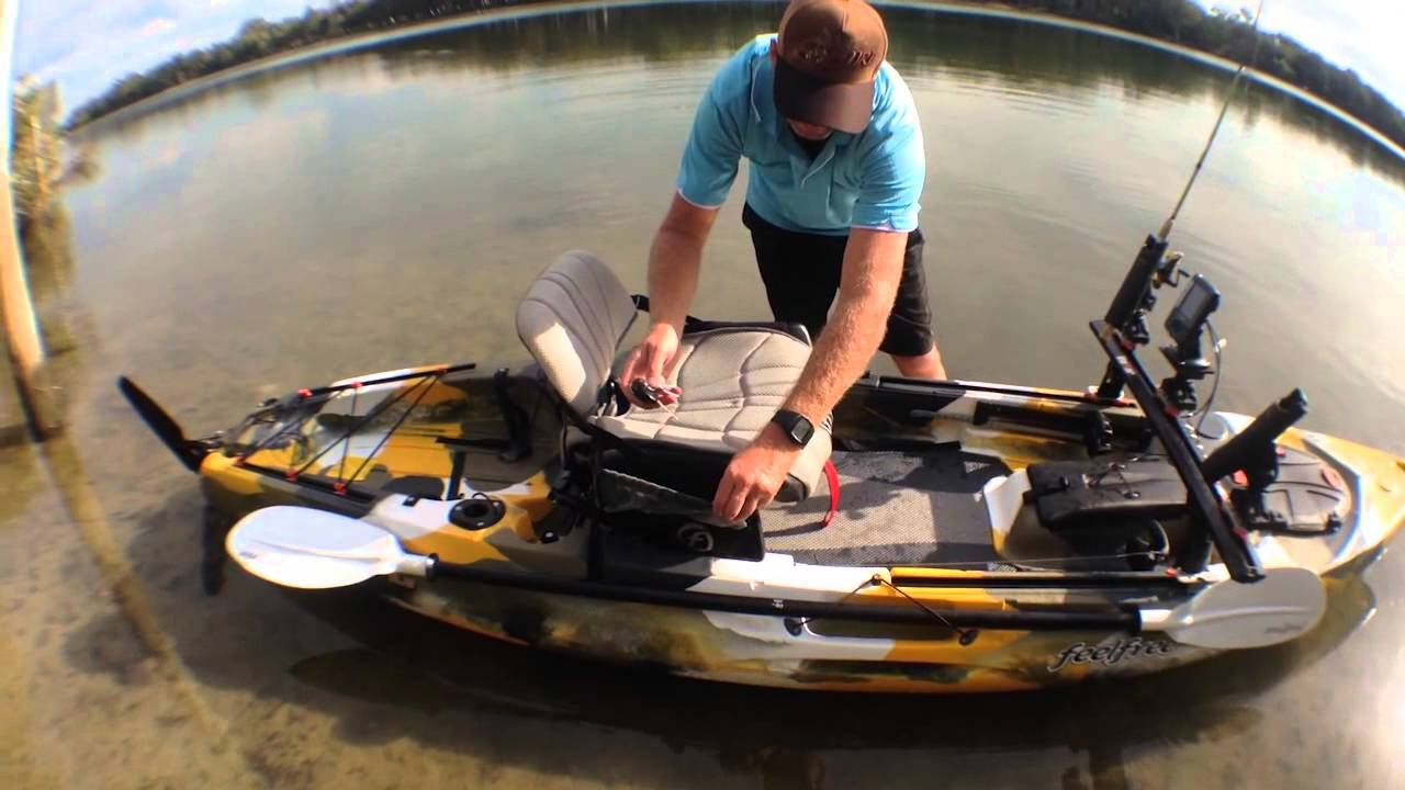Feelfree the lure fishing kayak youtube for Feelfree lure 11 5 with trolling motor