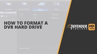 How to format a DVR Hard Drive for Defender HD and Defender HD Wireless