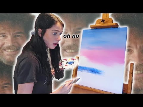 Following a Bob Ross Painting Tutorial *GONE WRONG*
