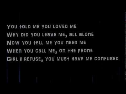 Justin Timberlake-Cry me a river lyrics on screen...