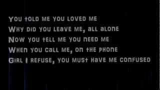 Justin Timberlake-cry Me A River Lyrics On Screen Hqhd
