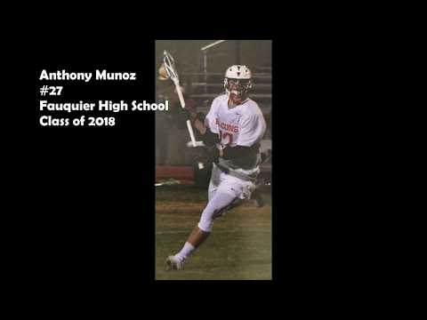 Anthony Munoz (2018 Midfielder) 2017 Spring Lacrosse Highlights