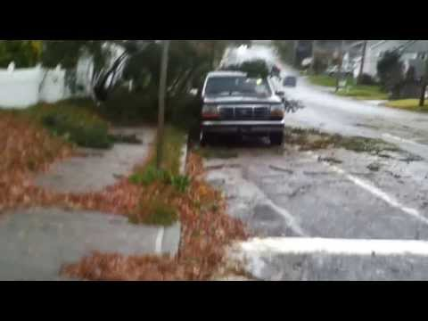 Hurricane Sandy Aftermath, Oakwood Rd, Huntington Station, NY.