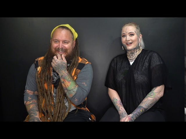 Tattoo Artists: Fain Douleur and Tim Lease working together at Golden Tarot Ink Club