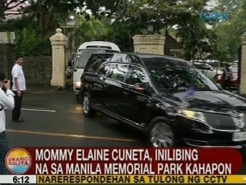UB: Mommy Elaine Cuneta, inilibing na sa Manila Memorial Park kahapon