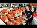 SPINACH ARTICHOKE DIP STUFFED SHELLS | Tasty Tuesday
