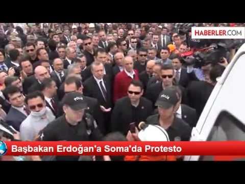 Başbakan Erdogan'a Soma da Protesto