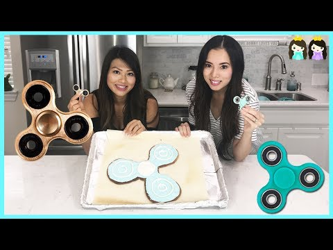 Thumbnail: FIDGET SPINNER Challenge! GIANT fidget spinner cookie DIY Food Challenge Fun Princess ToysReview