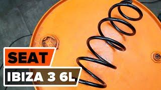 Montering Frontlykter venstre og høyre SEAT IBIZA IV (6L1): gratis video