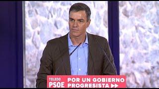 Sánchez exhibe la unidad del PSOE con un mitin en Toledo
