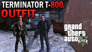 GTA 5 Online The Terminator T-800 Outfit Tutoral 1.36