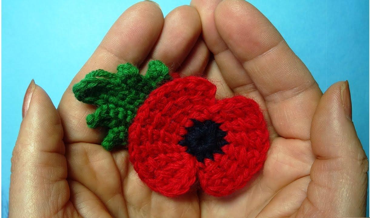 Traditional Crochet Poppy Flower Memory Of First World War 11