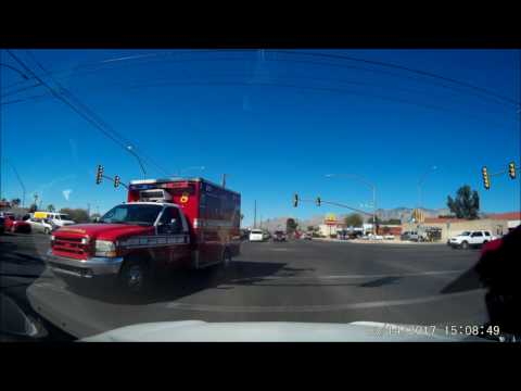 Ambulance Responding Through Ft Lowell/Campbell [Tucson, AZ]