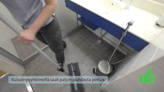 Lattian pyyhintä - kuivainpyyhin