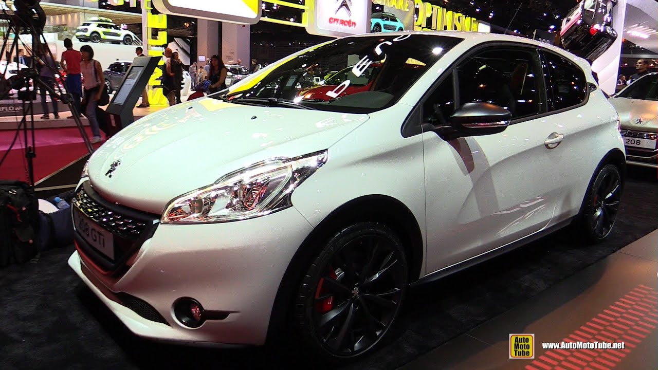 2015 peugeot 208 gti exterior and interior walkaround. Black Bedroom Furniture Sets. Home Design Ideas