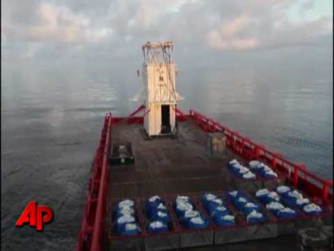 Raw Video: Oil Containment Box Arrives at Spill