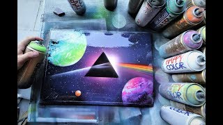 PINK FLOYD - DARK SIDE OF THE MOON - SPRAY PAINT ART by Skech