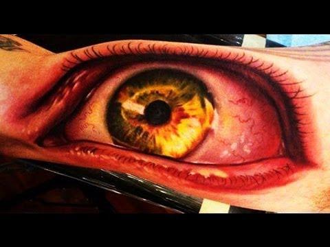 Eye 3D Tattoos  Best 3D Tattoos ►Part 2  Compilation HD