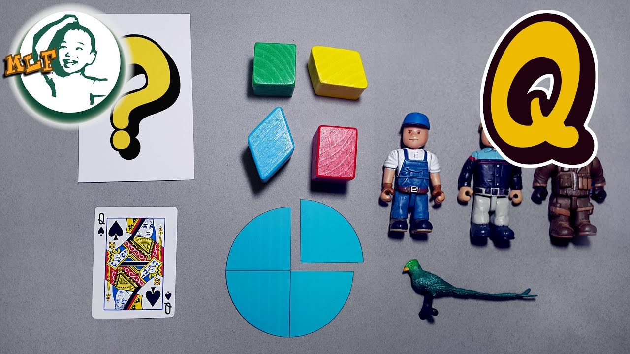 Words that start with Q | Learn alphabet Q with common toys!   YouTube
