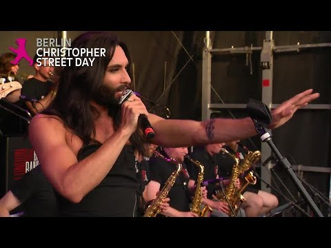 Conchita Wurst, London Gay Big Band - CSD Berlin - 22.07.2017