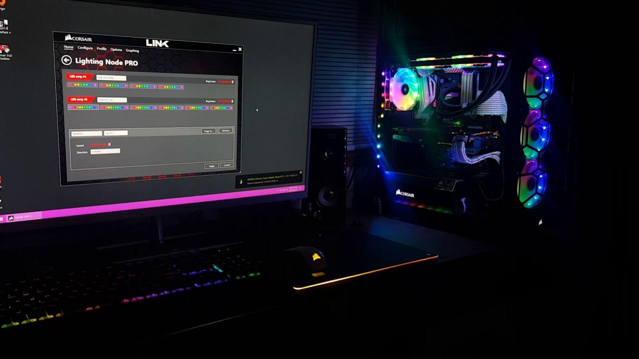 Resultado de imagen de corsair lighting node pro