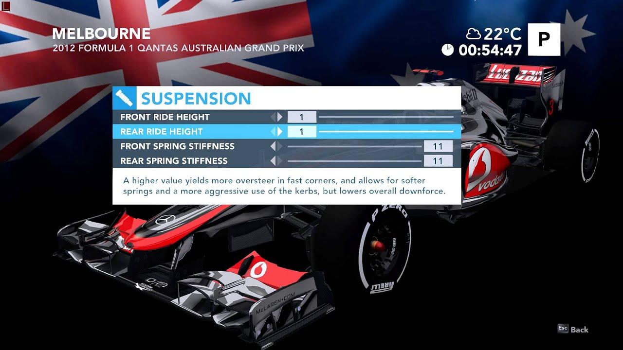 F1 2012 Car Setups Explained - YouTube