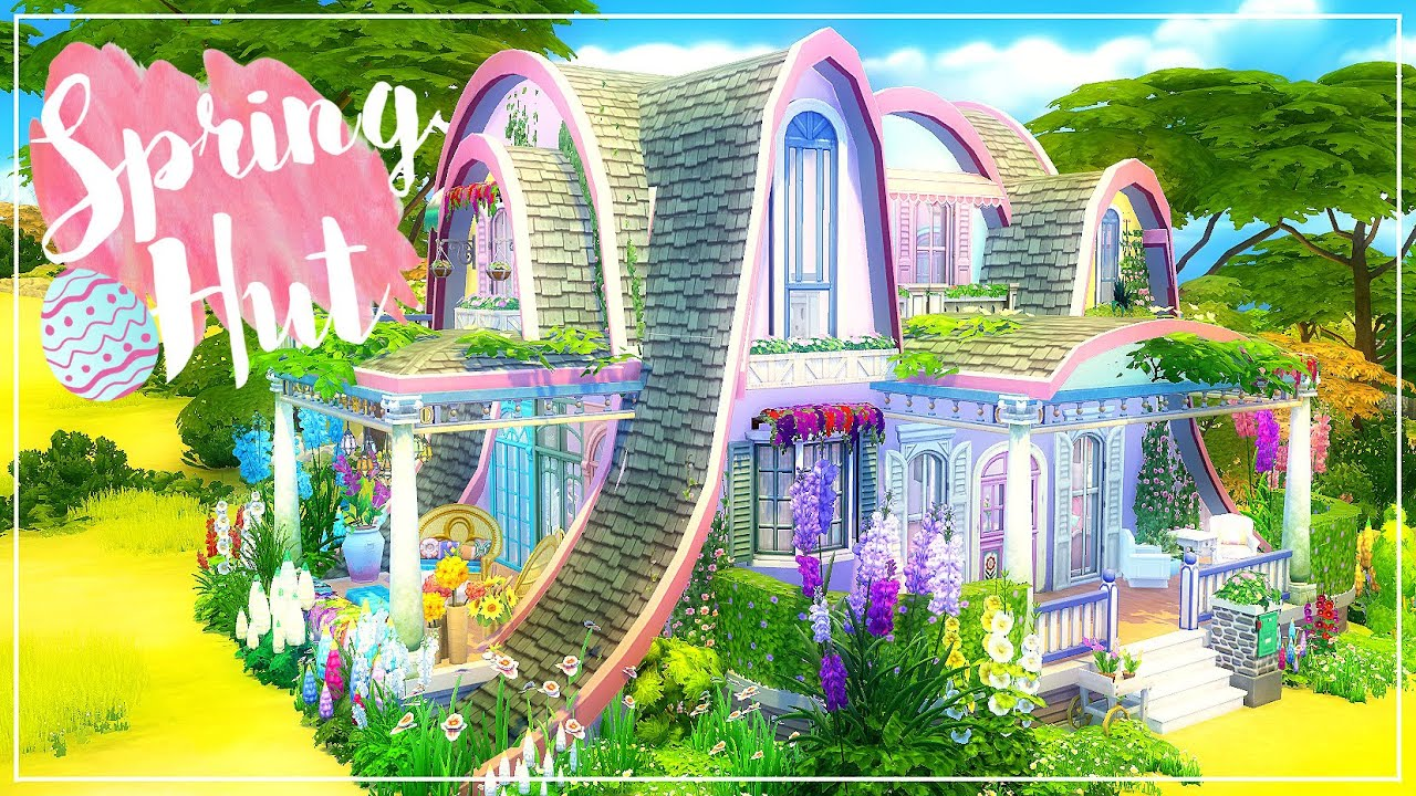 Girly Bedroom Ideas Sims 4 House Build Spring Hut Youtube